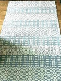 washable rag rug runners cotton rugs kitchen for hardwood floors runner blue white gray w uk