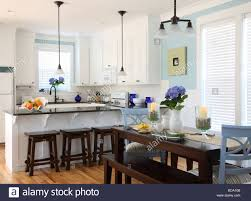 Beach Cottage Kitchen Beach House Kitchen Interior Stock Photo Royalty Free Image