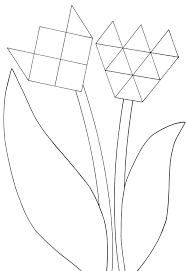 75 Tulp Maken Van Papier Kleurplaat 2019