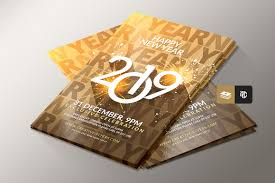 New Year Flyers Template New Year Flyer Templates On Behance