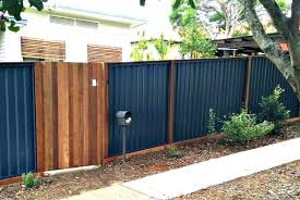corrugated metal wood fence exotic cost how much does a wood framed corrugated metal fence