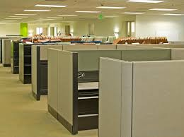 office with cubicles. Unlike A Corner Office, Cubicles Do Not Offer Privacy. Office With