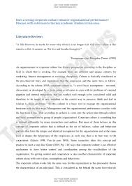 corporate culture effect on performance enhancement academic essay