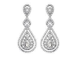 art deco crystal chandelier earrings crystal drop bridal earrings