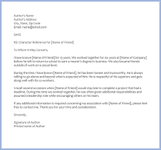 Sample Of A Character Letter 6 Best Character Reference Letter Samples Written For Friend