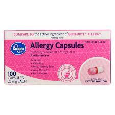 Kroger® Allergy Capsules -- 25 mg - 100 Capsules | Kroger Ship