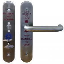 Door Handle. bathroom door knob with lock: Accessible Toilet Lock ...