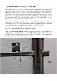 noisy garage door motor garage design garage ideas