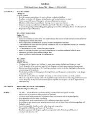 Cv Template 3d Artist Resume Format Cv Template Artist