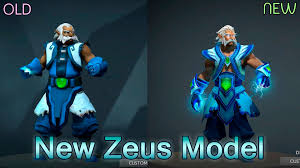 new zeus model 6 86 comparison with old model dota 2 youtube