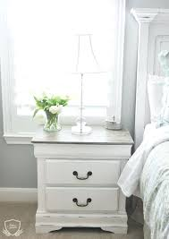 Painted Bedroom Set Nightstand Chalk Paint Tutorial White Wood Bedroom White  Painted Bedroom Furniture With Oak .