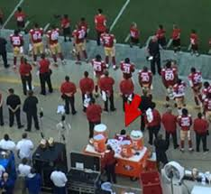 Image result for colin kaepernick sitting during national anthem