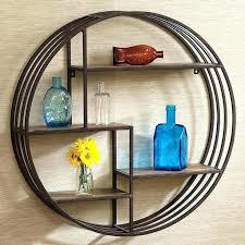 round wall shelf decorative metal wall shelf metal circle wall decor round wall shelf acacia half