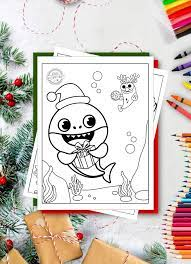 Search through 623,989 free printable colorings at. Free Baby Shark Christmas Coloring Pages For Kids
