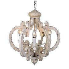distressed antique white chandelier 6 light distressed antique white wooden chandelier
