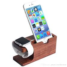 iphone desk holder for apple watch stand wood charging station wooden dock 2 in 1 bamboo