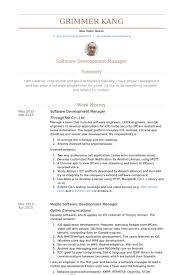 software development manager resume samples engineering executive resume