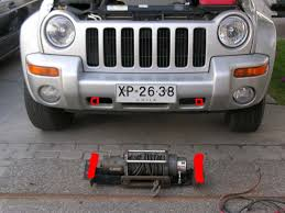 jeep liberty winch install i used the same plate that came the winch from the donor 4x4