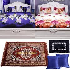 collection of digitally printed bed sheets runner mat and  collection of 2 digitally printed bed sheets 1 runner 1 mat and 2 cushion covers by azaani bed sheets homeshop18