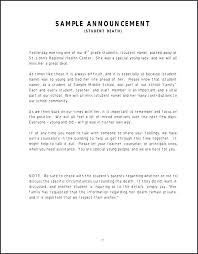 15 Sample Death Notice Statement Letter