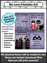 kunst posters superhero house rules