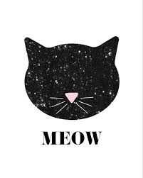 Free Wall Printables Sequin Cat Free Nursery Printables For Girls Nursery Decor