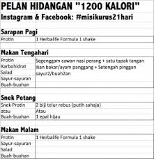 Herbalife Meal Plan Herbalife Meal Plan 1200 Kalori Png Blog Aisyah