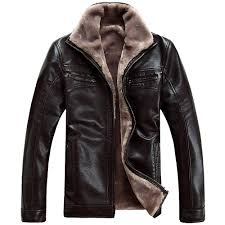 Designer Winter Jackets Plus Size 4xl Fur Lined Leather Jacket And Coats Brand Designer Mens Fur Leather Winter Jackets Man Motorcycle Fur Outerwear
