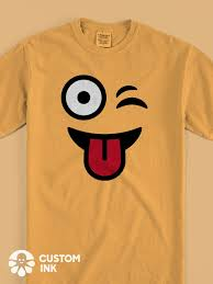 Diy T Shirt Designs Pinterest This Winking Tongue Out Face Emoji Design Is The Perfect