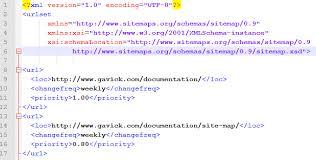 exle xml sitemap