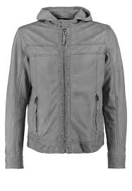 oakwood media leather jacket light blue men clothing jackets