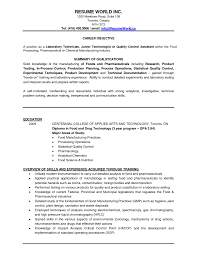 Chemical Engineer Resume Objective Examples Chemist Analytical