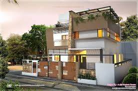 awesome contemporary residence in sq feet kerala home design house