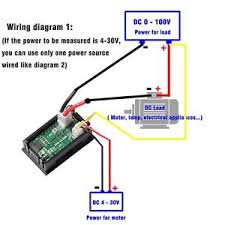 digital ammeter wiring current transformer ct coil at amp meter dc 100v 10a voltmeter ammeter led display digital volt amp meter new wiring diagram