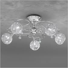 franklite orion 5 light chrome semi flush with crystal discs fl2214 5