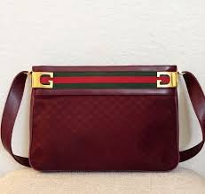 gucci bags on ebay. authentic gucci vintage burgundy leather monogram canvas striped purse bags on ebay i