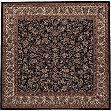 everest isfahan black 4 ft x 4 ft square area rug