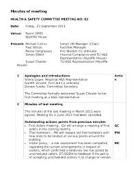 Top Result Health And Safety Committee Meeting Agenda Template ...