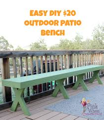 Diy Bench Diy 20 Outdoor Patio Bench Pinkwhen