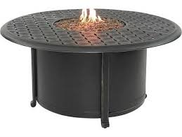 castelle sienna cast aluminum 48 round sienna coffee table with firepit and lid dcf48wl