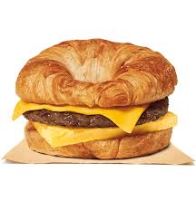 sausage egg cheese croissan wich