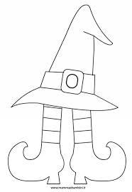 Disegno Da Colorare Per Halloween Cappello Strega Mamma E Bambini