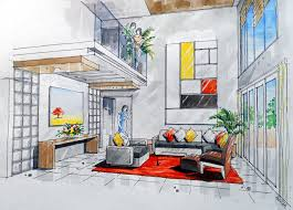 Dining Room Best Living Room Sketch Living Decor Ideas Drawing