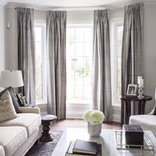 bay window living room. Home Decorating Ideas - Lovely Bay Window Treatment With Long Drapes/curtains. Living Room