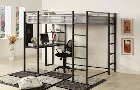 image of loft beds with desk underneath work