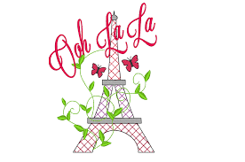 Romantic Embroidery Designs Romantic Eiffel Tower Paris Machine Embroidery Designs