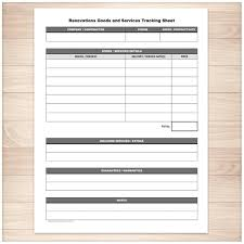 Remodeling Expenses Printable Renovations Goods Services Tracking Sheet Home Or Etsy