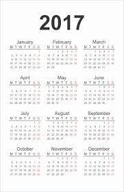 Annual Calendar For 2017 Beautiful 2017 Printable Calendar Pdf Or ...