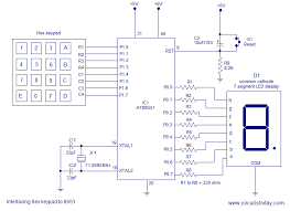 interfacing hex keypad to circuit diagram and assembly interfacing 4x4 keypad to 8051