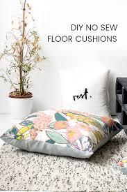 Floor Cushions Design Diy No Sew Large Floor Cushions Grillo Designs